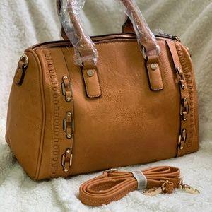Handbags - Tan Detailed Shoulder Bag
